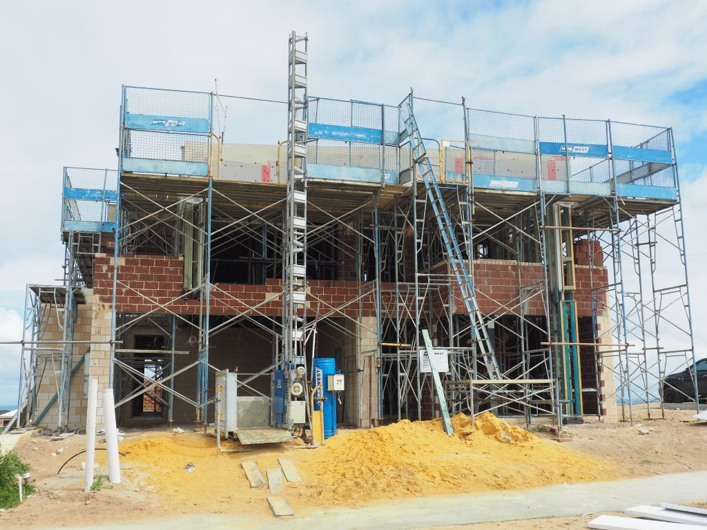 Residential home being built