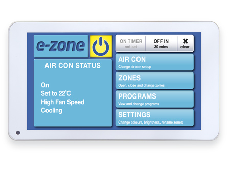 E Zone Touchscreen Temperature Control Airforce Aircon