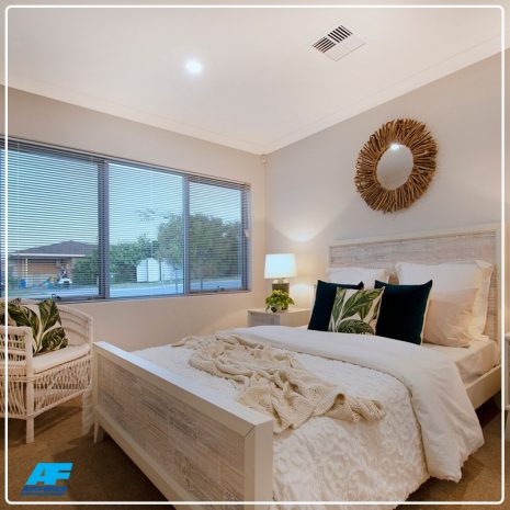 bedroom with daikin ducted air conditioning